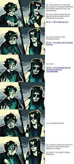 "This was one of the best moments in Homestuck: Karkat asks Equius to ""deal with"" Eridan."