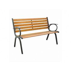 Innova Hearth and Home Contempo Cast Iron Park Bench | Wayfair - outside Front