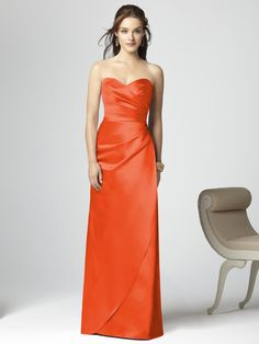 Dessy Collection Style 2851 #tangerine #tango