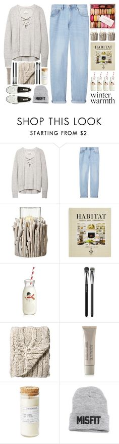 """Rhye – Open"" by owlmarbles ❤ liked on Polyvore featuring M.i.h Jeans, OKA, Hachette Book Group, Crate and Barrel, MAC Cosmetics, Bloomingville and Laura Mercier"