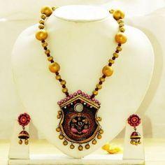Home » Terracotta Necklace - Golden