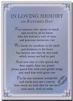 How I miss you dad!!  How my kids will have missed an opportunity to be with someone so wonderful!