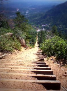 Manitou Incline by Angie Bowen, via Flickr  Actually, I've been here.  I challenge my nieces and nephews to visit and do the incline with me.