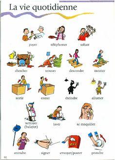 La vie quotidienne - verbes (routines - imagier)  http://www.nbisd.org/users/0022/docs/french%203/Unit1P2.pdf