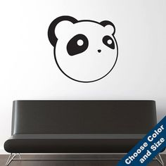 Anime Panda Wall Decal - Vinyl Sticker - Free Shipping