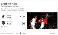 Google Brings NHL, NBA Video Highlights to Search Results via Search Engine Watch Net Box, Search Engine Watch, Nba Video, Marketing News, Game 4, Brooklyn Nets, Miami Heat, Team Names, Nhl