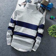 1d1afcdb21420 Cashmere Pullover Men 2018 New Fashion Turtleneck Thin Sweater Autumn –  heavengif