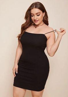 Plus Size Sexy Rib-Knit Bodycon Club Dress. Love this Black Plus Size Little Party Dress. Love this plus size club black bodycon club dress for women. #PlusSizeFashion #PlusSizeStyle #CurvyGirl #plussizedivas #boldcurvyfashionista #curvy #curvyfashionista #Fashion #Style