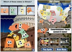 Educational apps. Stack the States, Numbers League, Freefall Spelling, BOB Books...