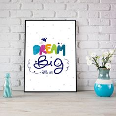 Dream big little one #nfartstudio #shopnow #decorhome#decorideas #etsyshop #etsystyle #etsy #etsysellers #nursery #nurserydecor #nurseryprints #boyroom #girlroom #nurseryinsiration #babyroomdecor #newbaby #kidsroom #freepik #dreambig #dreambiglittleone