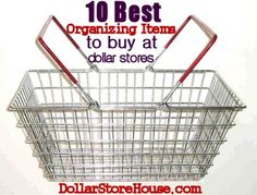 Best Organizing Items to Buy at Dollar Stores (DollarStoreHouse.com)