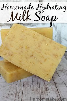 Create this homemade hydrating milk soap recipe for a moisturizing bar soap for your skin.