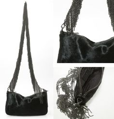 Chain fringe purse