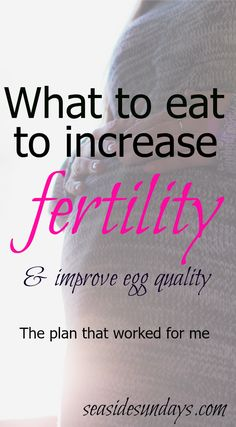 The fertility and ivf diet proven to work via www.seasidesundays.com
