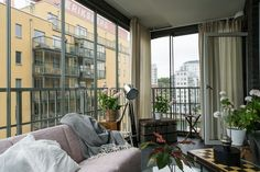 An Elegant Swedish Apartment Surrounded by Sea – The Design Stash Balcony, Curtains, Sea, Elegant, Room, Furniture, Design, Home Decor, Classy