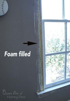 How to Insulate Drafty Windows (Permanently)! how to insulate drafty windows permanently, diy, home Home Renovation, Home Remodeling, Home Improvement Projects, Home Projects, Repair Cracked Concrete, Shabby, Design Your Dream House, House Design, Diy Home Repair
