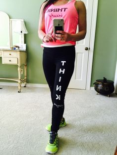THINK Beauty & Strength #THINK #beauty #strength #workout #fitness #health #positivethinking #mentalhealth #tanks #yogapants
