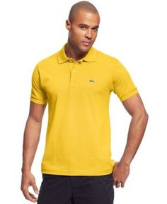 Lacoste Classic Pique Polo Shirt  - Yellow L