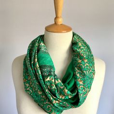 A luxurious silk texture patchwork snood made from vibrantly printed sari fabric and lined with soft viscose lycra. Made in Cape Town with love and care. Sari Fabric, Cape Town, Scarves, Silk, Clothes For Women, Floral, Prints, Texture, Beautiful