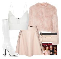 """Scream Queens: Ariana Grande"" by bulletproof-07 ❤ liked on Polyvore featuring Funtasma, RED Valentino, Narciso Rodriguez and Dune"