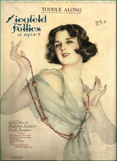 """whisters: """" Ziegfeld Follies Sheet Music Featuring an Early Illustration by Alberto Vargas, circa 1924-1925. """"Toddle Along."""" """""""