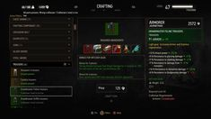 Witcher 3 crafting UI sample