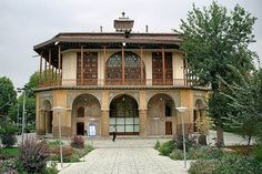The 16th-century Chehel Sotun pavilion in Qazvin, Iran. It is the last remains of the palace of the second Safavid king, Shah Tahmasp