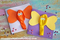Balloon Elephant Card - Kid Craft