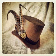 Top Hat - Steampunk, Alice in Wonderland, Sherlock Holmes, Clockwork, Time Traveller, Mad Hatter, Tea, Adventurer, Explorer, Victorian, Edwardian,