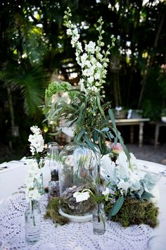 adore this apothecary-inspired centerpiece // photo by AshleyCamper.com
