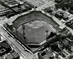 ad1d0470f768 Aerial view of Sportsman s Park 15 Sept 1955. Baseball Park