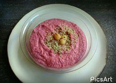 HUMMUS goes PINK Go Pink, Hummus, Acai Bowl, Breakfast, Food, Homemade Hummus, Acai Berry Bowl, Morning Coffee, Meal