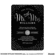 MODERN STYLISH WEDDING mini silver confetti black