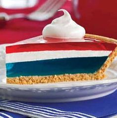 Show your colors with Jell-O Easy Patriotic Pie.