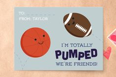 Pumped Classroom Valentine's Cards by Iron Range Artery at minted.com