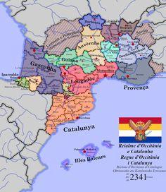 The Kingdom of Occitania and Catalonia - imaginarymaps