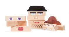 Make A Stuffed Toy Shusha Toys / such a great idea! Reminds me of those books with flaps to make different people. - I'm totally in love with these amazing wooden toys by Shusha. Early learning toys this cool are hard to come by! Handmade Wooden Toys, Wooden Diy, Learning Toys, Early Learning, Wooden Blocks, Jenga Blocks, Baby Kind, Wood Toys, Diy Toys