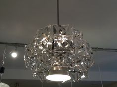 Kinkeldey Three Tiered Prism Crystal Chandelier - : RetroLiving, Mid century, Vintage and Danish furniture, lighting, glassware and decorative art based in London Chandeliers, Tiered Stand, Murano, Chrome, Bulb, Ceiling Lights, East London, Crystals, Lighting