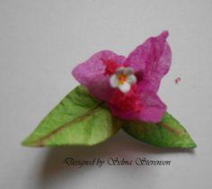 "Flower created with Susan's Garden ""Bougainvillea"" flower dies. http://selmasstampingcorner.blogspot.com/2013/11/susans-garden-birdhouse-with.html"