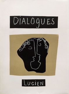 """alfiusdebux: """" Henri Laurens. Cover for Dialogues by Lucian. - Paris: Tériade, 1951 [source] """""""
