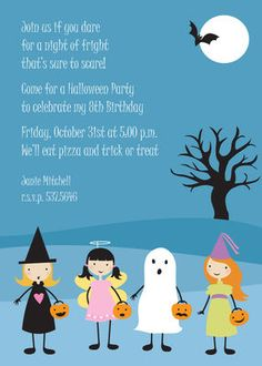 Trick or Treat Halloween Invitations
