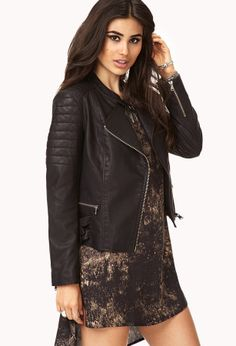 FOREVER 21 Biker Babe Faux Leather Jacket