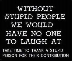 We need stupid people (funny quotes)