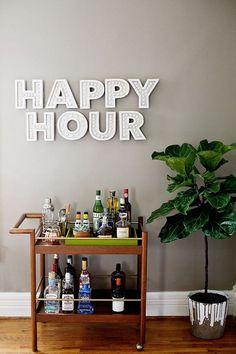 10 ideias para um mini bar na sala.