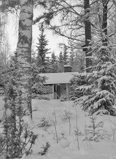 Cabbin by winter, Sweden