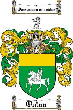 Quinn Coat of Arms Quinn Family Crest Instant Download - for sale, $7.99 at Scubbly