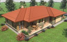 Archivo de álbumes - Családi ház - Dunakiliti Style At Home, Dream Home Design, House Design, Modern Family House, One Story Homes, Roof Design, Story House, Bungalow, Gazebo