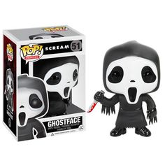 The masked villain from Wes Craven's horror movie series Scream has been given the Pop! Vinyl treatment with this Scream Ghostface Pop! The masked villain looks true to form with his eer Funk Pop, Toy Art, Pop Vinyl Figures, Film Scream, Horror Scream, Scream Series, Scream Art, Funko Pop Horror, Disneysea Tokyo