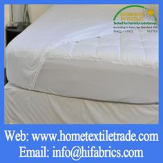 Hotel Quilted Mattresses Cover, Waterproof Permeable Mattress Polyurethane Waterproof  Bed Sheets Organic Cotton Fabric In