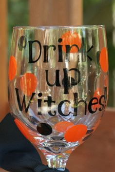 cute halloween gift idea- I've got a few gals in mind for this glass